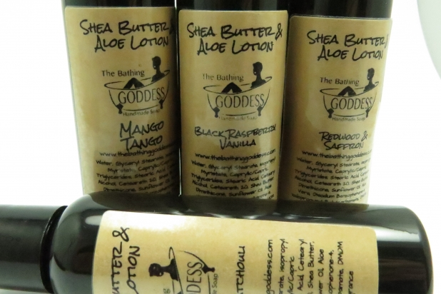 Lotion on the Go The Bathing Goddess Shea Butter Aloe Lotion